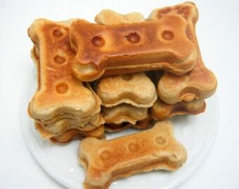 Dingo Dongo Peanut Butter Puppy Bones Puppy Treats Dog Biscuits Dog Bones Handmade Dog Treats 8oz-Dog Lover Gift