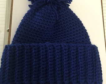 Pompom winter hat