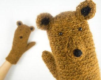 Bear Mittens / Gloves ~ Handmade