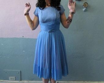 Vtg 50s / Pin Up / Mad Men / Femme Fatale Rockabilly Wiggle Bombshell Garden Party