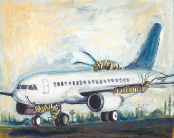Pre Travel: Archival Print of Original Watercolor and Acrylic Painting; Living Cross Culturally