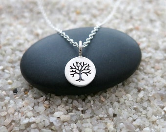 Tiny Tree of Life Necklace, Sterling Silver Tree of Life Charm, Nature Jewelry, Tree Jewelry
