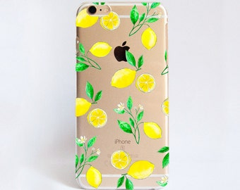 Clear Lemons phone case design for iPhone Cases,  Samsung Cases, Google Pixel Cases and One Plus 5 Cases