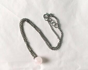 Rose Quartz Choker • Rose Quartz Necklace • Choker Necklace • Rose Quartz Jewelry • Crystal Choker