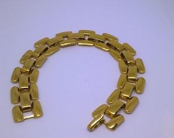 Vintage Retro Napier Gold Tone Link Bracelet