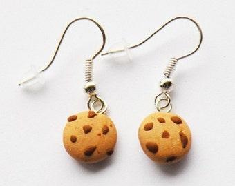 Chunky Chocolate Chip Cookie Earrings