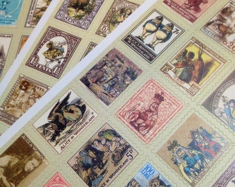 80pcs ALICE & WONDERLAND STICKERS Marvelous Stamps