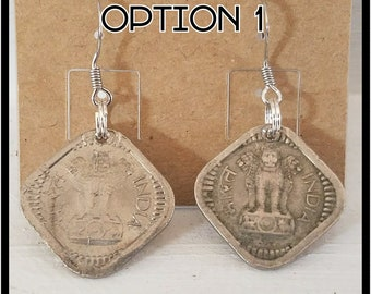 EARRINGS: Made from various Vintage Coins