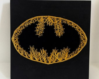 Batman Logo String Art