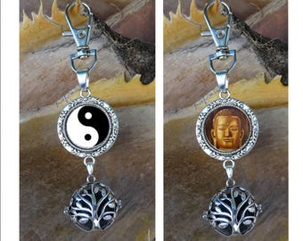 Diffuser essential oil, Keychain jewelry bag diffuser, diffuser, lava stone, tree of life, Buddha, ying yang, aromatherapy