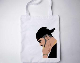 Hotline Bling Dancing Drake Drake Tote Bag Drizzy Drake Print Drake Bag Hip Hop Tumblr Bag Drake Birthday Drake Accessory Canvas tote GO7257
