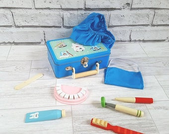 Personalised Dentist Kit, Dentist, Role Play Toy, Wooden Toy
