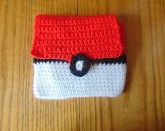 Crocheted Pokeball Cover-Crocheted Tablet Cover-Handmade 2DS Pokeball Cover-Crocheted 2DS Pokeball Cover-Handmade Tablet Cover-Kid Gift Idea