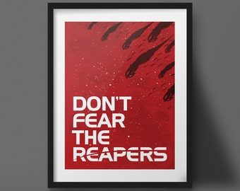 Mass Effect Poster Design Video Game Art Print Don't Fear the Reapers