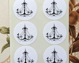 Stickers Chandelier Wedding Party Favor Treat Bag Stickers Envelope Seals S017