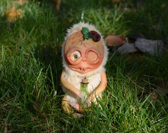 Tara. Pumpkin toy, halloween, halloween decor, Halloween doll, fantasy creature,creepy cute, miniature pumpkin,Handmade toy