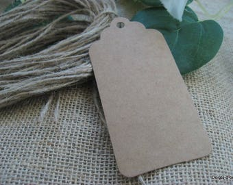 10 large Brown kraft cardboard tag labels model