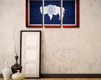 Wyoming Flag Triptych