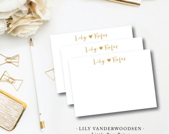 Lily Vanderwoodsen Printed Stationery | Printed by Darby Cards Collective