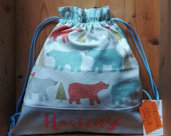 Bag child backpack, school, gym bag, pouch, bag, personalized bag, toy bag, blanket, personalized poncho bag