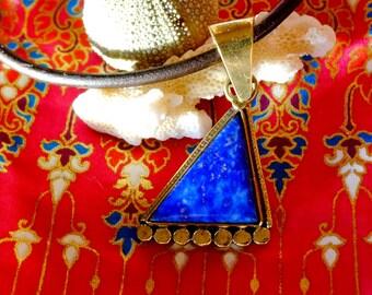 Lapis lazuli - Bermuda Triangle pendant