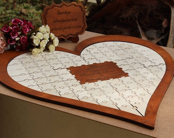 Guest Book Guest Book Puzzle Wedding Guest Book Puzzle Wedding Guest Book Puzzle Alternative
