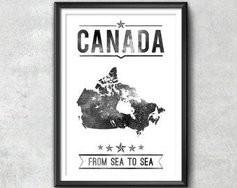 CANADA Typography Print, Typography Poster, Canada Poster, Canada Wall Art, Canada Gift, Canada Decor, Canada Print, Canada Love, Canada Map