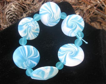 Blue Lentil Bracelet