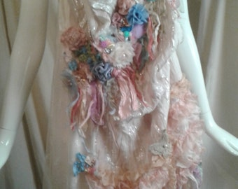 Formal Scarf All That Glitters Marie Antionette Art to Wear Boho Cinderella Style Romance