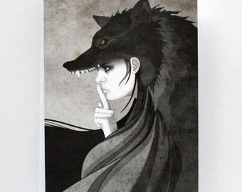 Wolf Girl - Illustrated Card - Blank Card - Birthday Card