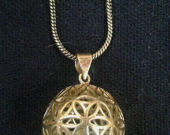 Flower of life ball Necklace