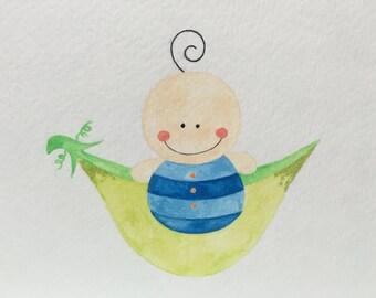 Baby Boy Pea in a Pod