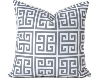Pillow Covers Decorative Pillows ANY SIZE Pillow Cover Grey Pillow Cover Premier Prints Towers Grey and White