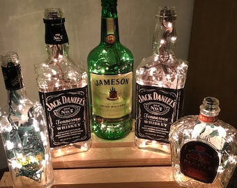 Lighted Liquor Bottle Lamps