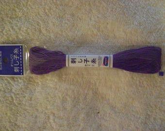Sashiko Embroidery Thread/Purple /22 yds