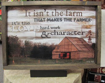 Farmhouse Decor,Farming,Barn,Farmer Decor,Windmill,Rustic Frame,Cindy Jacobs,19x13