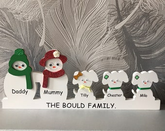 Personalised snow family