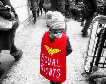 Women's March, Washington DC, Red, Equal Rights, Empowerment, Women's rights, Large Wall Art Print, BW,  Fine Art Photography - Superhero