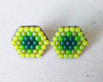 Stud earrings,minimal jewelry,сontemporary earring, modern jewelry,minimalist  earrings, polymer clay jewelry.