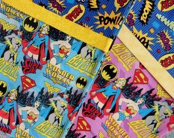 Super Girl Pillowcase, DC Comics Wonder Woman, Super Girl, Bat Girl, Super Girl Bedding, Cartoon Girls, Super Girl Gift Bag, Blue, Pink, POW