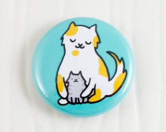Baby Cats Hug One Inch Button