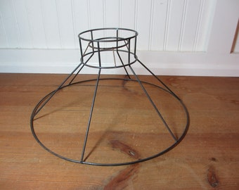 Lamp shade frame etsy vintage metal wire lamp shade frame bell hat lampshade frame keyboard keysfo Choice Image