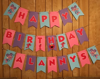 Abby Cadabby and Elmo Birthday Banner from Sesame Street. (Comes assembled)