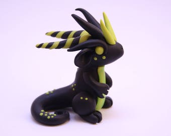 Custom polymer clay dragon sculpture