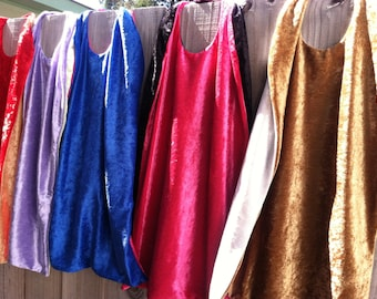 BLANK Cape - Reversible - Choose Your Colors - Birthday Party Capes