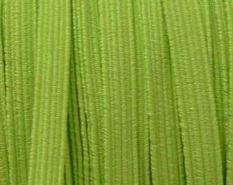 Ribbon 6 mm neon green elastic