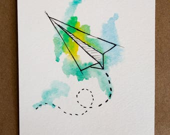 Paper Route: Watercolor and Ink Print