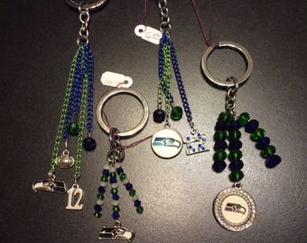 Seattle Seahawk Charms Key Chains