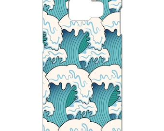 IPhone case - Japanese waves - 3D Iphone 4 / 4s - 5 / 5 S - 5 c - 6 / 6 S - 6 more-7/8-7 more