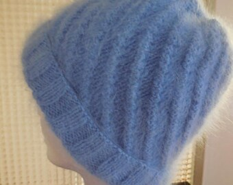 BEAUTIFUL hand - soft and warm knitted hat,